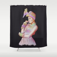 afro Shower Curtains featuring Afro Beauty by Daniac Design