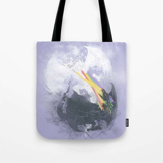Clash of the sky Dragons Tote Bag