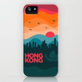 Vintage Travel: Hong Kong iPhone Case