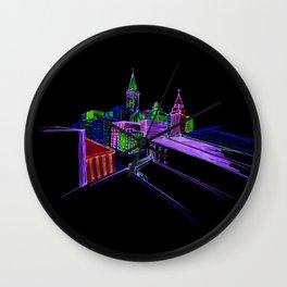 Vibrant city 3 Wall Clock