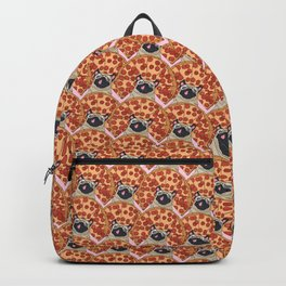Funny Pug Pizza Backpack