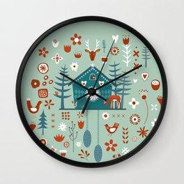 Cuckoo Clock Scandinavian Woodland Forest Wall Clock