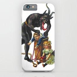 Krampus Believer Gruss Vom Merry Christmas Demon iPhone Case