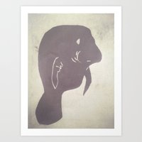 manatee Art Prints featuring Manatee by Elyse Notarianni