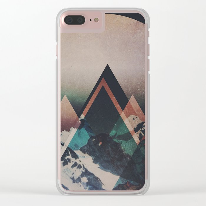 Fractions B19 Clear iPhone Case