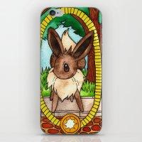 eevee iPhone & iPod Skins featuring Eeveevolution Series - Eevee by Jazmine Phillips