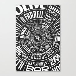 TenderLoin San Francisco Type wheel Canvas Print