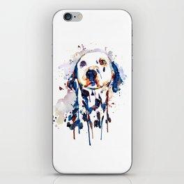 Dalmatian Head Watercolor Portrait iPhone Skin