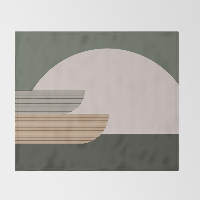 Abstract Composition 16 Throw Blanket