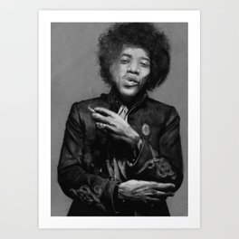 Chilling Hendrix Art Print