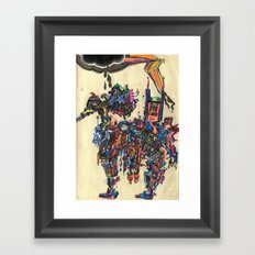 A Horse of a Different Color Framed Art Print