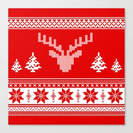 Winter pattern Canvas Print