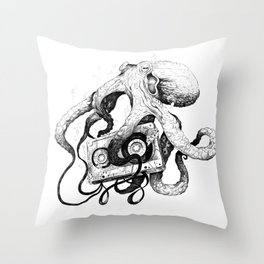 Old MixTapes Never Die Throw Pillow