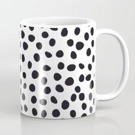 Hand Drawn Polka Dots, Spots Black &  White Coffee Mug