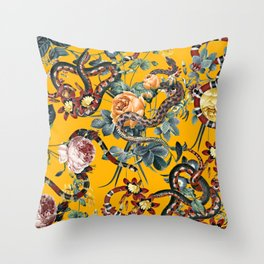 Dangers in the Forest III Throw Pillow