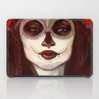 sugar skull iPad Cases featuring Sugar Skull by LaurenceBaldetti