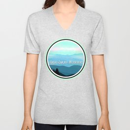 The Great Smoky Mountains Unisex V-Neck