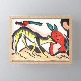 "Franz Marc ""Fantastic Creature (Fabeltier)"" Framed Mini Art Print"