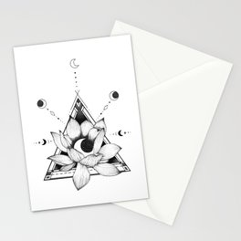 Lotus Crescent Stationery Cards