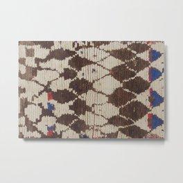 Retro African Berber Rug Print Metal Print