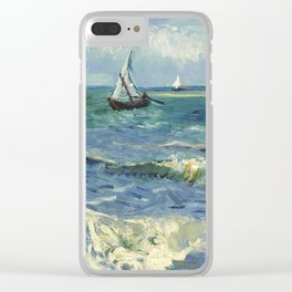 Van Gogh Seascape Clear iPhone Case