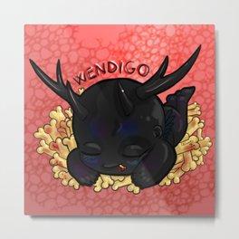 Chibi Wendigo Metal Print
