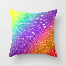 Partytime Rainbow Throw Pillow
