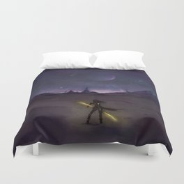 Under the Light from Distant Worlds Duvet Cover