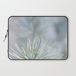 pine needles in blurry green shades Laptop Sleeve