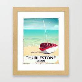 Thurlestone Devon rail poster Framed Art Print