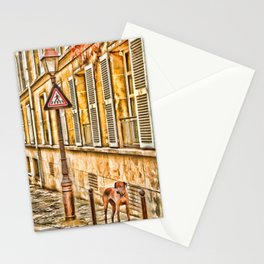 Autumn Near The Louvre – Painting - by Liane Wright Stationery Cards