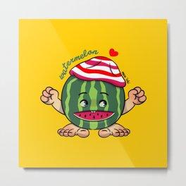 Watermelon B Metal Print