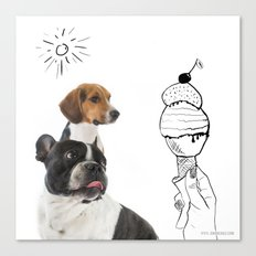 Juno and Ari ice-cream  Canvas Print