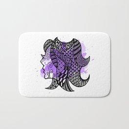 Zodiac Zentangle - Virgo Bath Mat