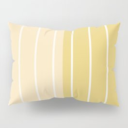 Two Tone Stripes - Yellow Pillow Sham