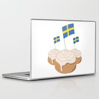 swedish Laptop & iPad Skins featuring Swedish Buns  by Salina Sees London