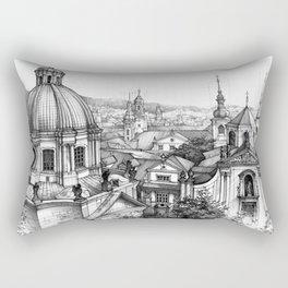 Prague over the rooftops Rectangular Pillow