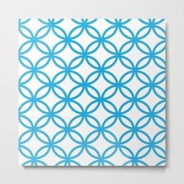 Interlocking Blue Metal Print