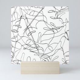 Botanical Black Mini Art Print