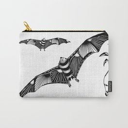 Tangled Bat on White Carry-All Pouch