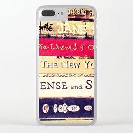 Classic Books Clear iPhone Case