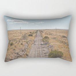 Train to nowhere Rectangular Pillow