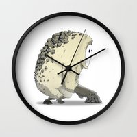 vendetta Wall Clocks featuring Creature | Vendetta Ape by ivanfanning