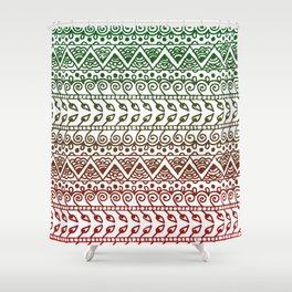 Holiday Henna Pattern Shower Curtain