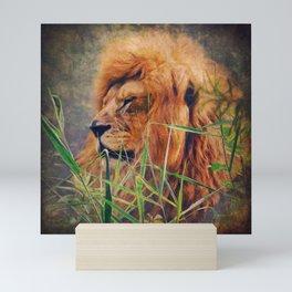 A  Lion portrait Mini Art Print