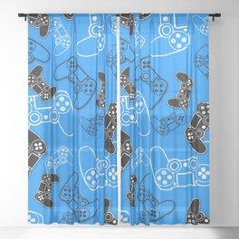 Video Games Blue Sheer Curtain