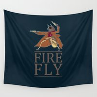 firefly Wall Tapestries featuring Firefly by Evan Raynor
