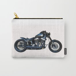 black motorcycle isolated Carry-All Pouch