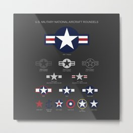 U.S. Military National Aircraft Roundels from 1916 to Present Metal Print