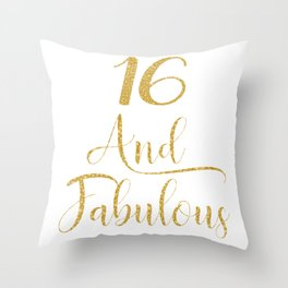 Girls 16 Years Old And Fabulous Girl 16th Birthday product Throw Pillow